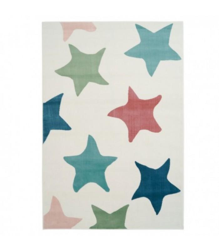 Šviesus kilimas su žvaigždėmis