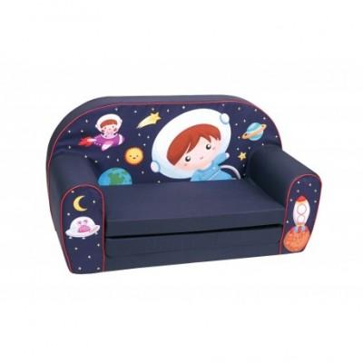 """Mėlyna vaikiška sofa - """"Kosmosas"""""""