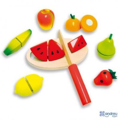 Medinių pjaustomų vaisių rinkinys 18mėn +