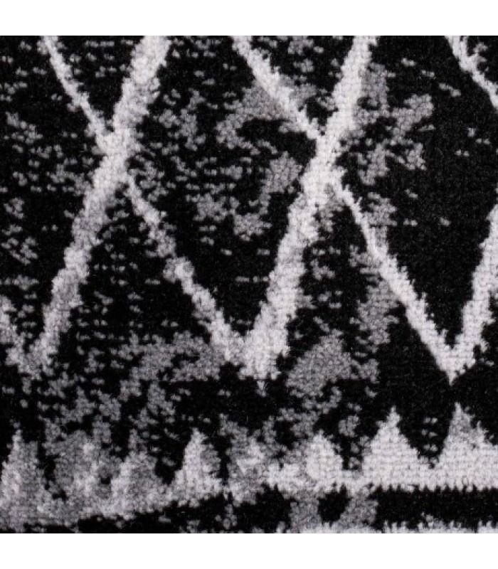 Tamsus kilimas su šviesiomis linijomis
