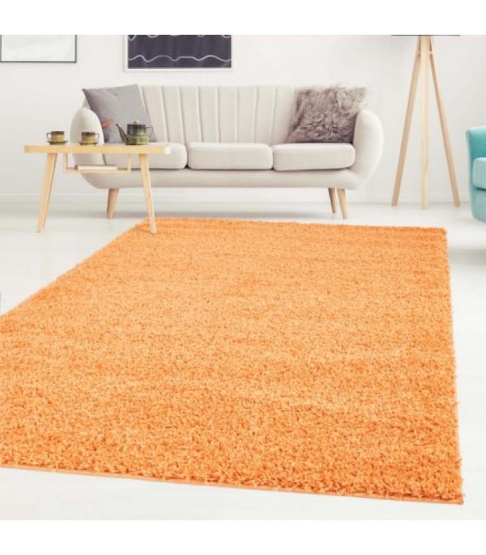 """Oranžinis vaikiškas kilimas - """"Shaggy Uni"""""""