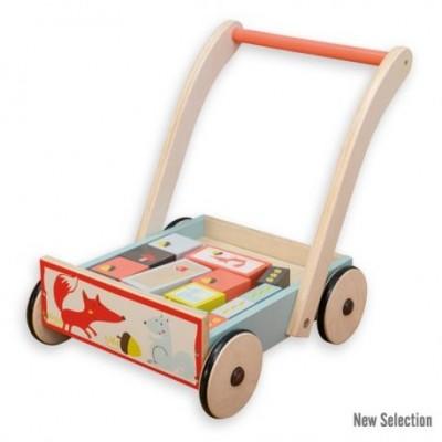"""Stumiamas vežimėlis su kubeliais """"Lapė"""""""