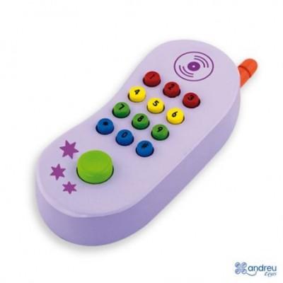 Vaikiškas medinis telefonas 1+
