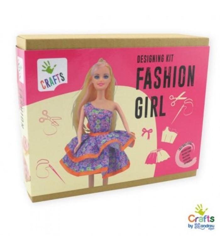 Rinkinys pasiūti lėlės suknelę