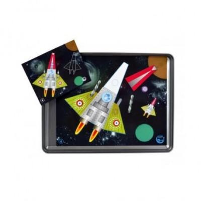 """Magnetic Land magnetukų mozaikos rinkinys  """"Kosmosas"""" 4+"""