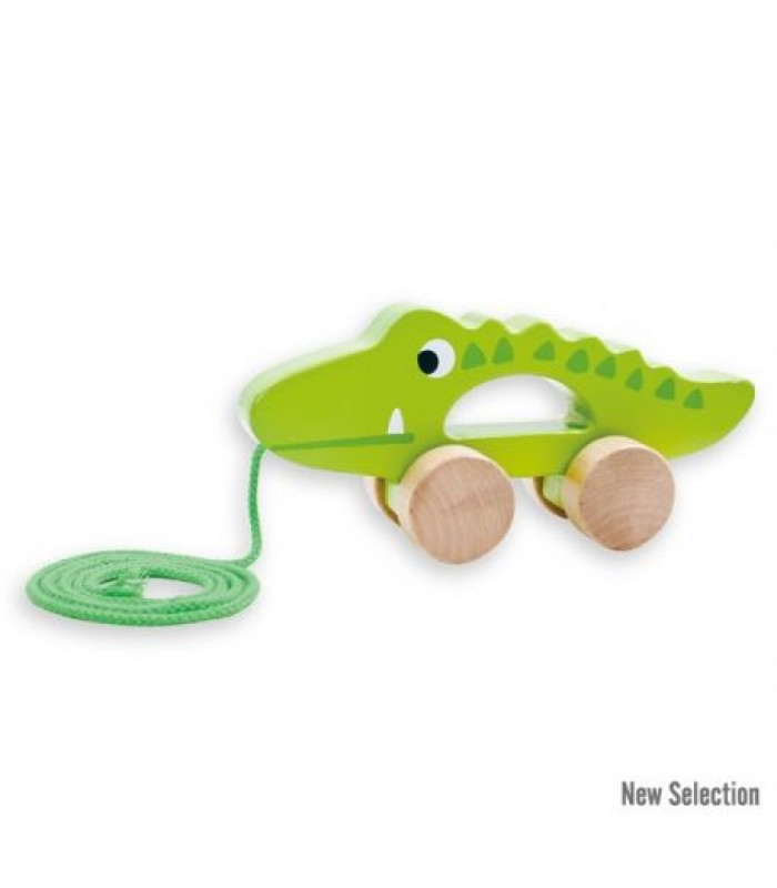 """Traukiamas medinis žaisliukas """"Krokodilas"""""""