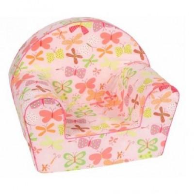 Gėlėtas vaikiškas foteliukas