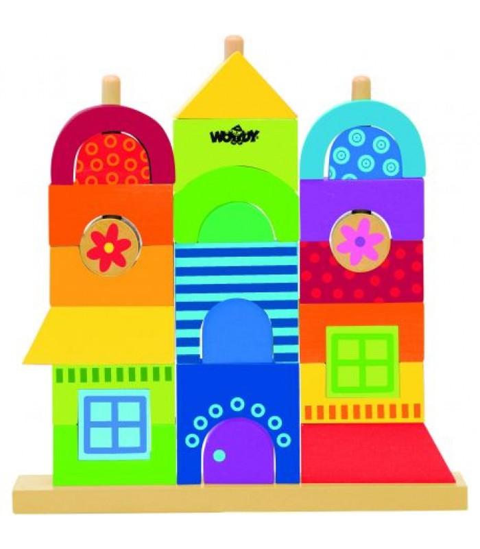 Medinis kaladėlių namas, 2+