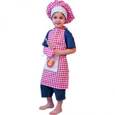 Vaikiškas virtuvės šefo rinkinys su priedais