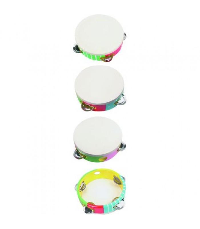 Vaikams skirtas medinis tamburinas