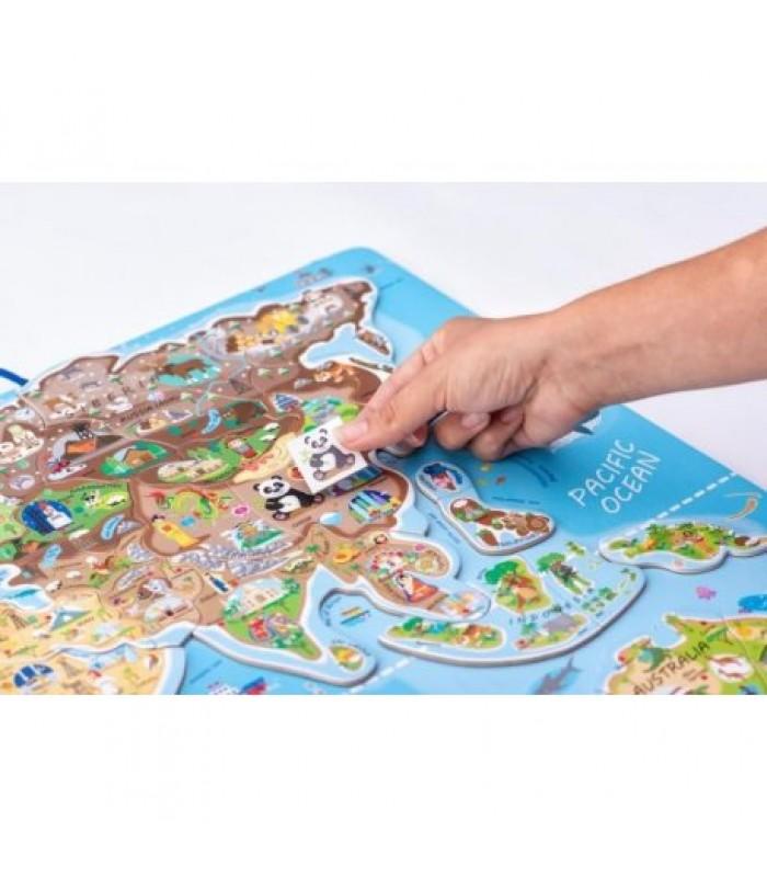 Magnetinis pasaulio žemėlapis su žaidimu