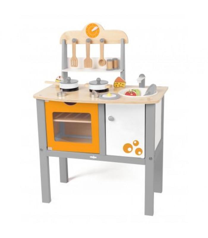 """Medinė virtuvėlė su priedais """"Buona Cucina"""""""