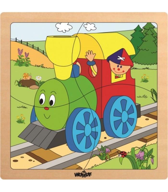 """Mini dėlionė mažiesiems """"Linksmasis traukinukas"""""""