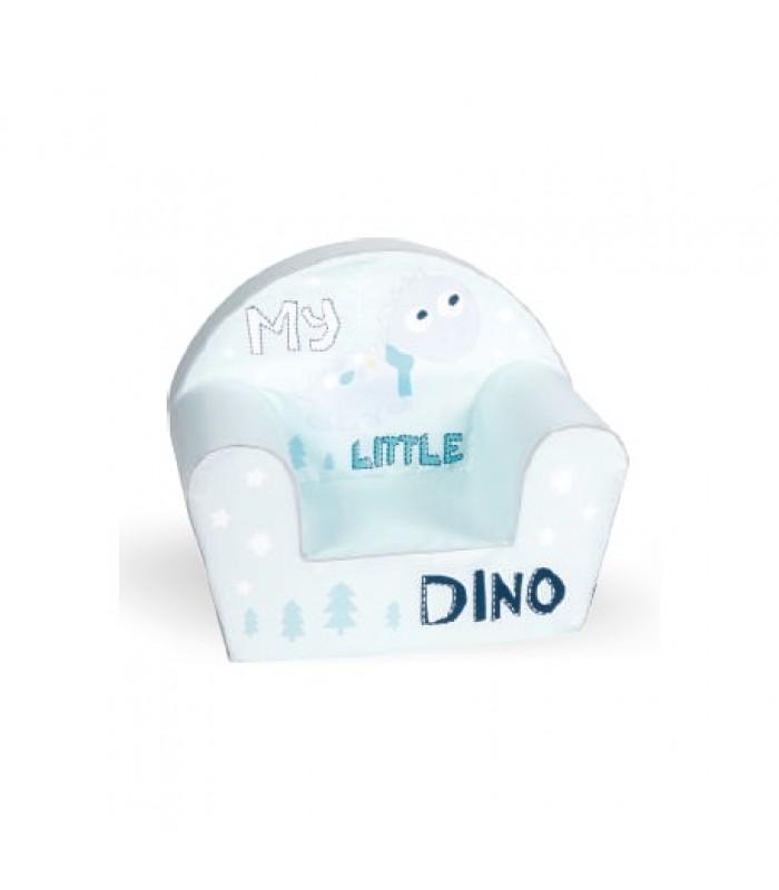 """Mėtinės spalvos foteliukas """"Mažas dinozauras"""""""