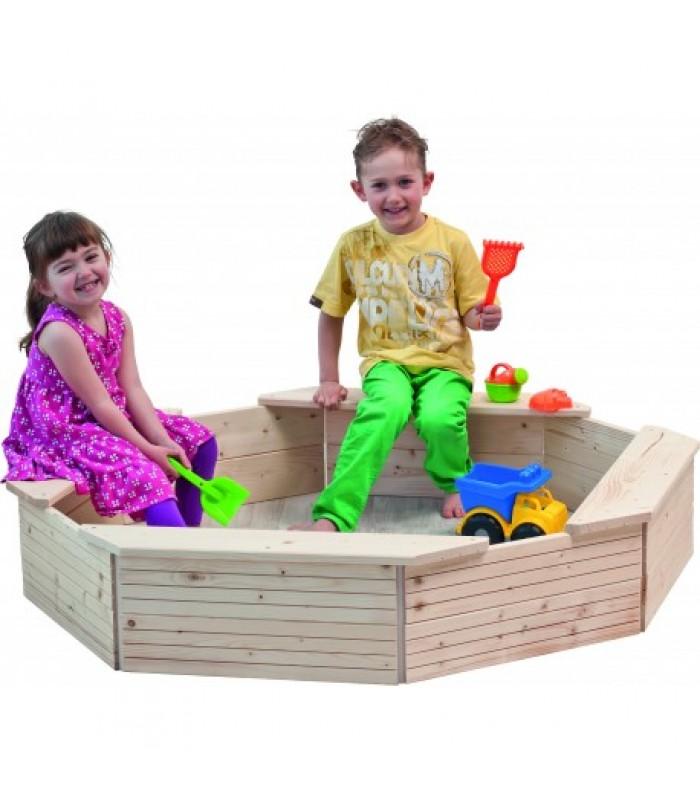 Medinė smėlio dėžė su apsauga