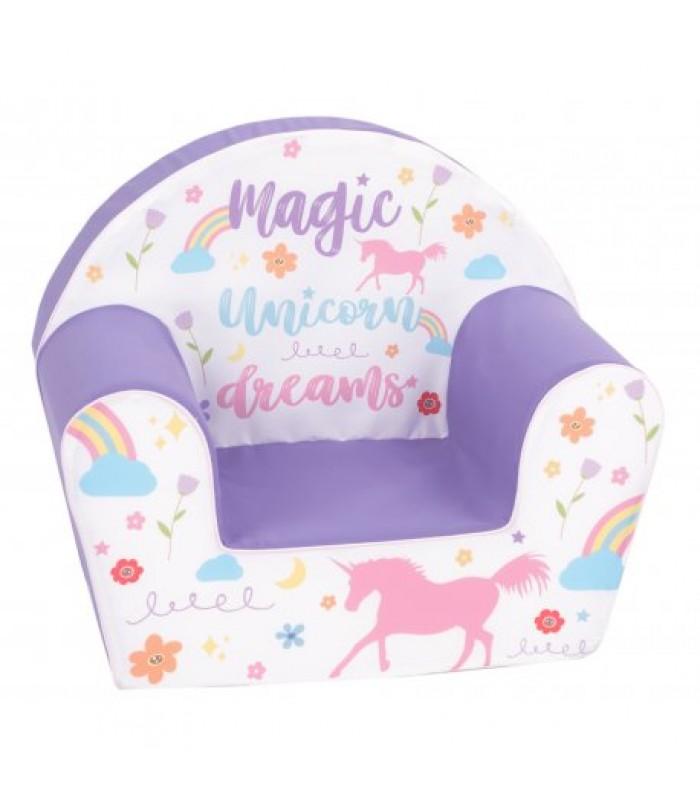 """Violetinis foteliukas """"Vienaragio svajonės"""""""