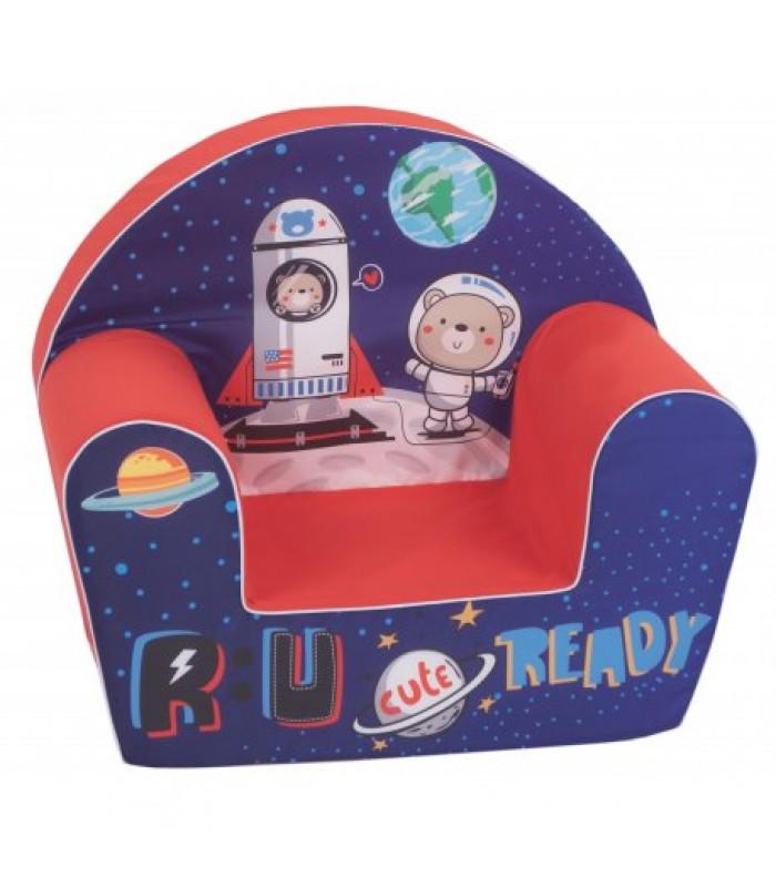 """Vaikiškas foteliukas """"Kosmonautas ir raketa"""""""