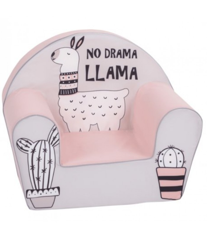 """Rožinis foteliukas - """"Išdidi Lama"""""""