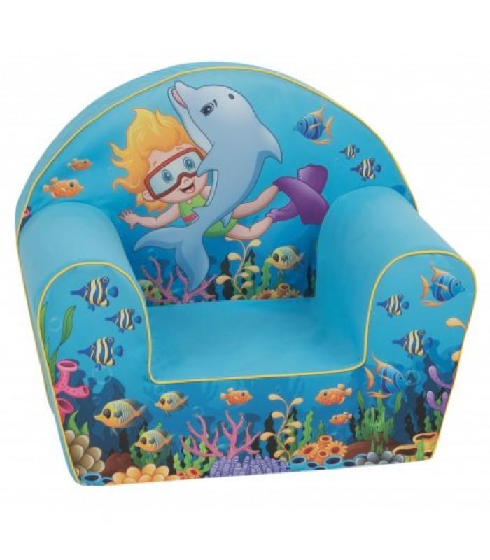 """Mėlynas fotelis - """"Aqua"""""""