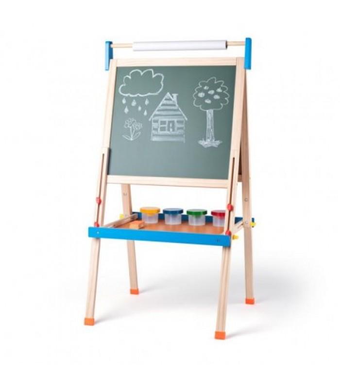 Dvipusė magnetinė piešimo lenta su priedais - ABC
