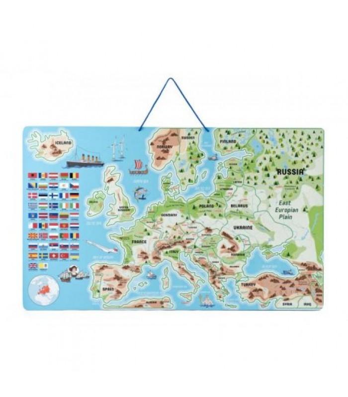 Magnetinis Europos žemėlapis su žaidimu 192 vnt.