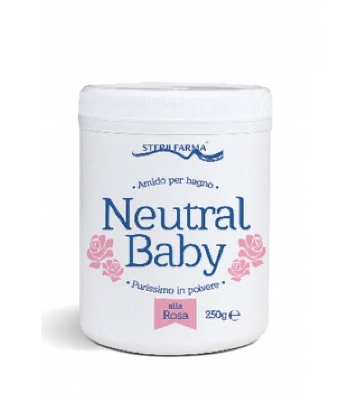 Neutral Baby rožių kvapo ryžių milteliai voniai, 220 g