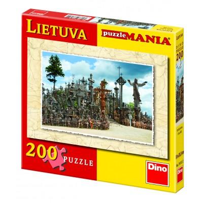 DINO dėlionė 200d. Lietuva Kryžių kalnas