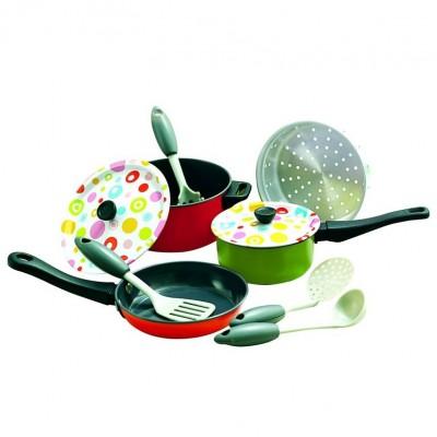 PLAYGO rinkinys virtuvės puodų (spalvotas), 6955/6838