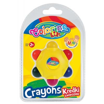 COLORINO KIDS vaškinės kreidelės Star, 6 spalvos, 33015PTR