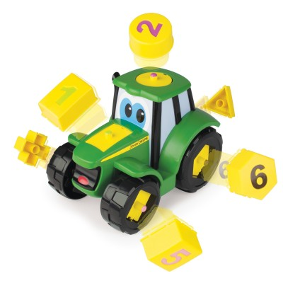 JOHN DEERE traktorius su kaladėlėmis Johnny, 46654