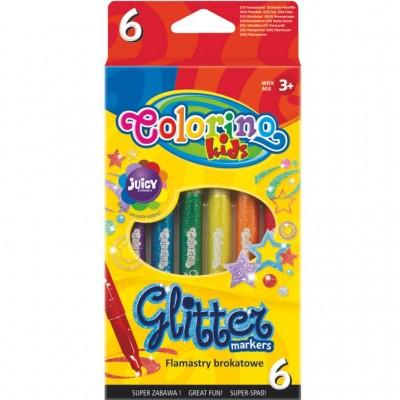 COLORINO CREATIVE blizgūs flomasteriai 6 spalvos, 65641PTR