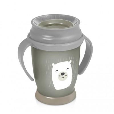 LOVI puodelis 360 su rankenėlėmis 250 ml Junior Buddy Bear 1/599new