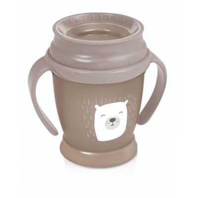 LOVI puodelis 360 su rankenėlėmis 210 ml Mini Buddy Bear 1/600new