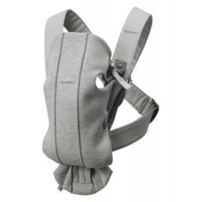 BABYBJÖRN nešioklė Mini, Light Grey, 3D Jersey