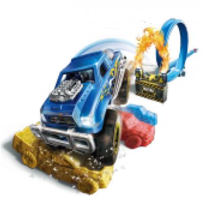 METAL MACHINES automobilio rinkinys, Playset-S1 Road Rampage, 6701