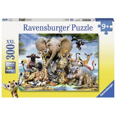 RAVENSBURGER dėlionė African friends 300vnt, 13075