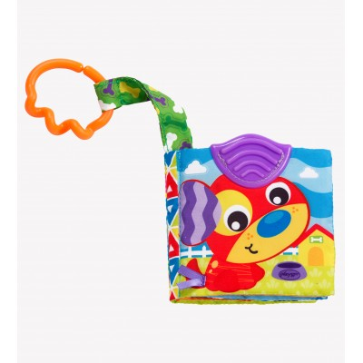 PLAYGRO pakabinamas žaislas A Day at the Farm Teether Book, 0186967