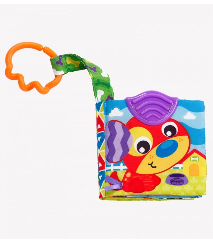 PLAYGRO pakabinamas žaislas A Day at the Farm Teether Book, 0186967