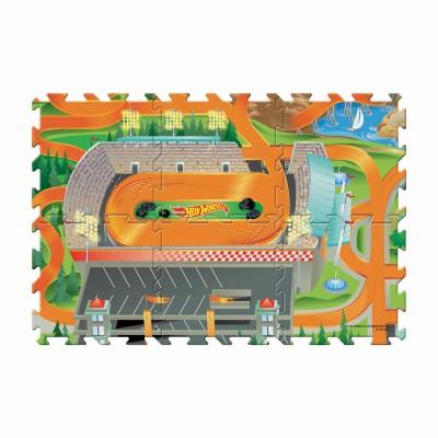 TCG žaidimo kilimėlis su mašinėle Hot Wheels 6-piece Tile Mega Mat, 30746