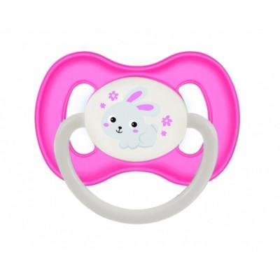 CANPOL BABIES čiulptukas lateksinis apvalus Bunny&Company 0-6 mėn, 23/277 pink