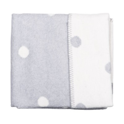 WOMAR pledas pilkas su baltais žirneliais Dots 75x100cm