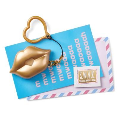S.W.A.K. raktų pakabukas su garsu Matte Gold Kiss, 4114