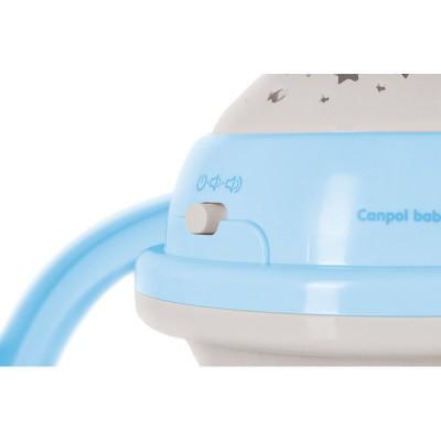 CANPOL BABIES 3in1 muzikinė karuselė su projektoriumi ir pliušinias žaislais, mėlyna 75/100_blu