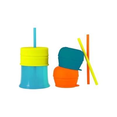 BOON puodelis 1 vnt., dangteliai 3 vnt. ir šiaudeliai 3 vnt. 12m+ B11145