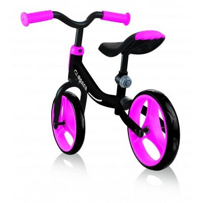 GLOBBER balansinis dviratis GO BIKE juodas/rožinis, 610-132