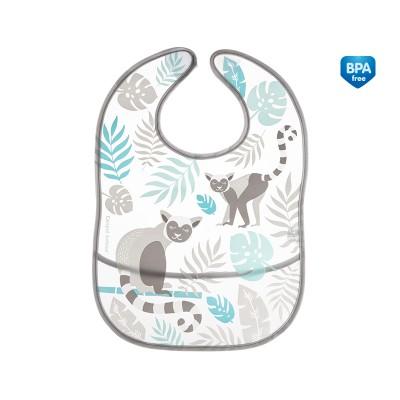 CANPOL BABIES plaunamas seilinukas su kišene Jungle, pilkas, 9/238_grey