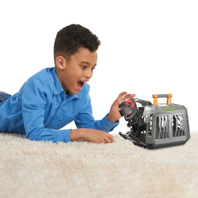 UNTAMED interaktyvus elektroninis žaislas T-Rex, rinkinys su narvu, 3748