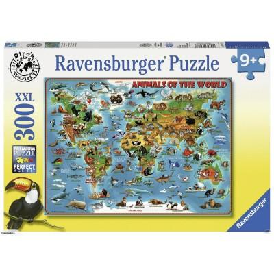 RAVENSBURGER dėlionė Gyvūnai visame pasaulyje, 300d., 13257