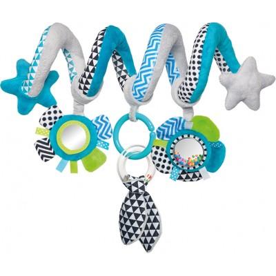CANPOL BABIES interaktyvus lovelės/ vežimėlio žaislas spiralė Zig Zag, 68/063_blu