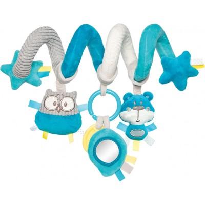 CANPOL BABIES interaktyvus lovelės/ vežimėlio žaislas spiralė Pastel Friends, 68/064_tur